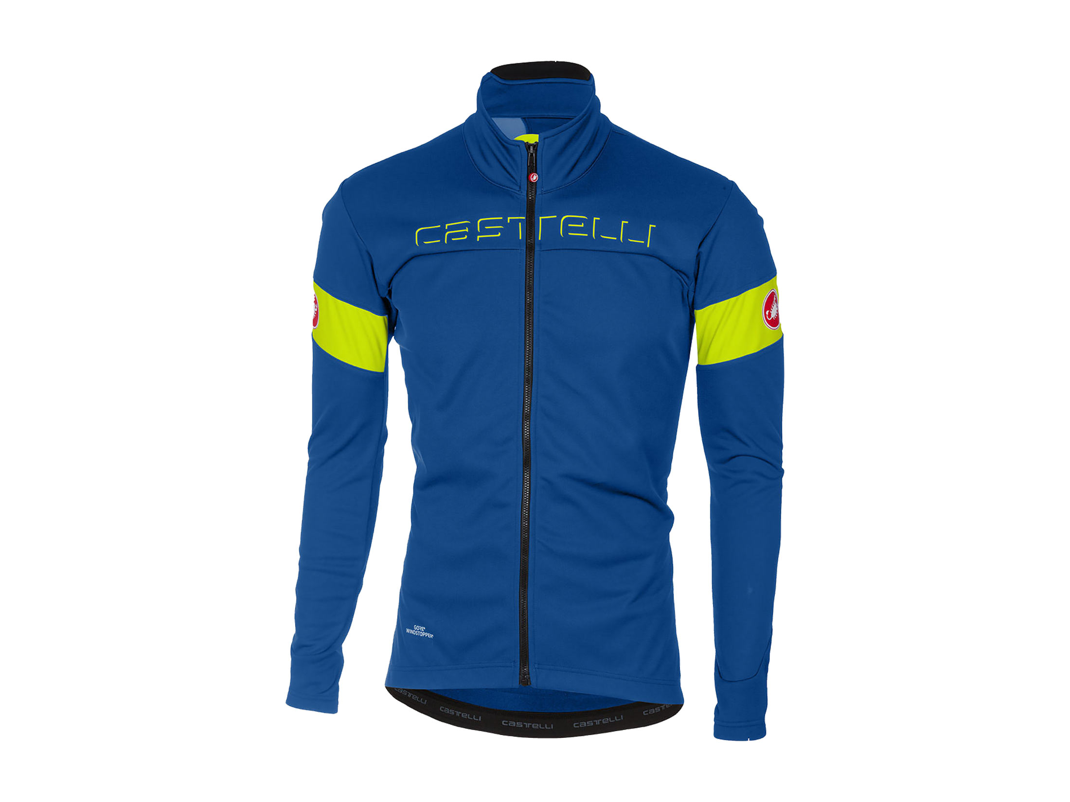 Castelli Transition Jacket - Ceramic Blue / Yellow Fluo