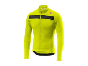 castelli-puro-3-fz-jersey-yellow-fluo-front
