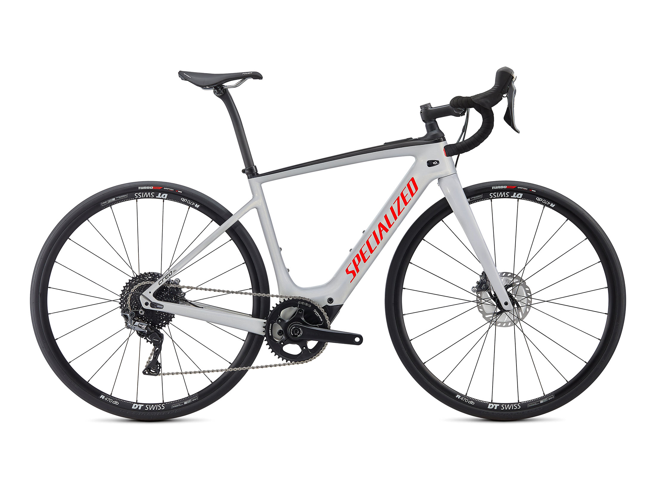 Ηλεκτρικό Ποδήλατο Specialized Turbo Creo SL Comp Carbon - Gloss Dove Gray / Gold Ghost Pearl / Rocket Red